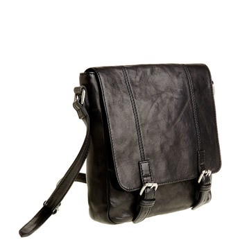 Kožená Crossbody taška s prackami bata, šedá, 964-2193 - 13