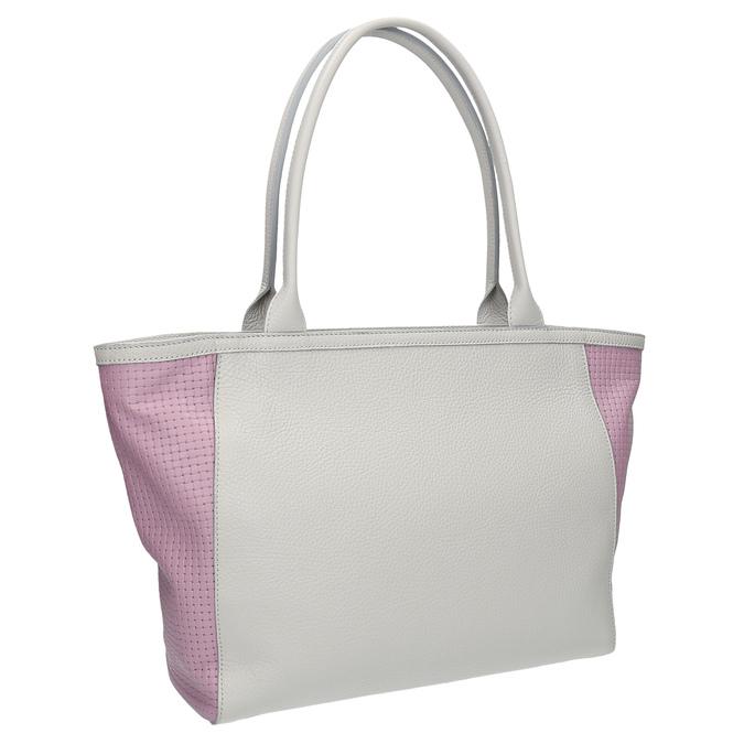 Kožená shopper kabelka bata, šedá, 964-2191 - 13