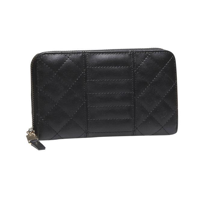 Dámska prešívaná peňaženka bata, čierna, 941-6128 - 13
