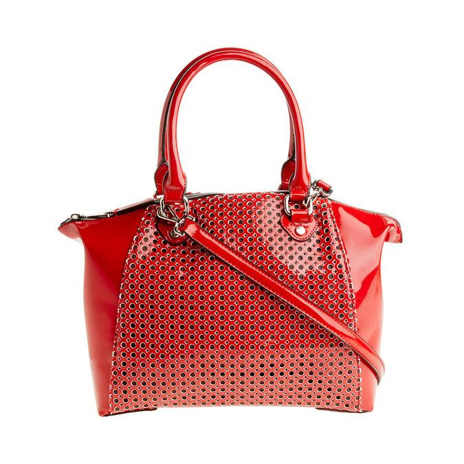 Červená lesklá kabelka bata, červená, 961-5796 - 26
