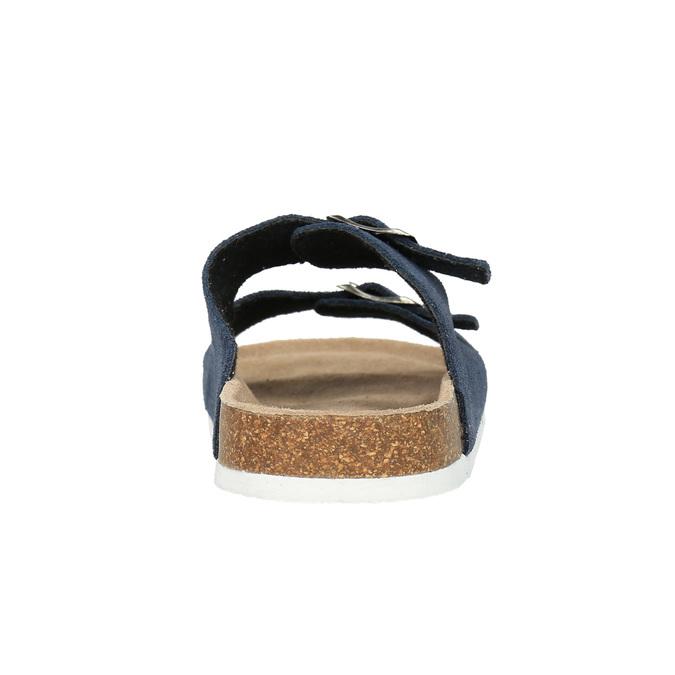 Kožená domáca obuv pánska de-fonseca, modrá, 873-9610 - 17