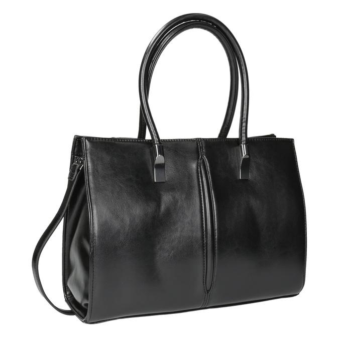 Čierna kabelka s pevným dnom bata, čierna, 961-6879 - 13