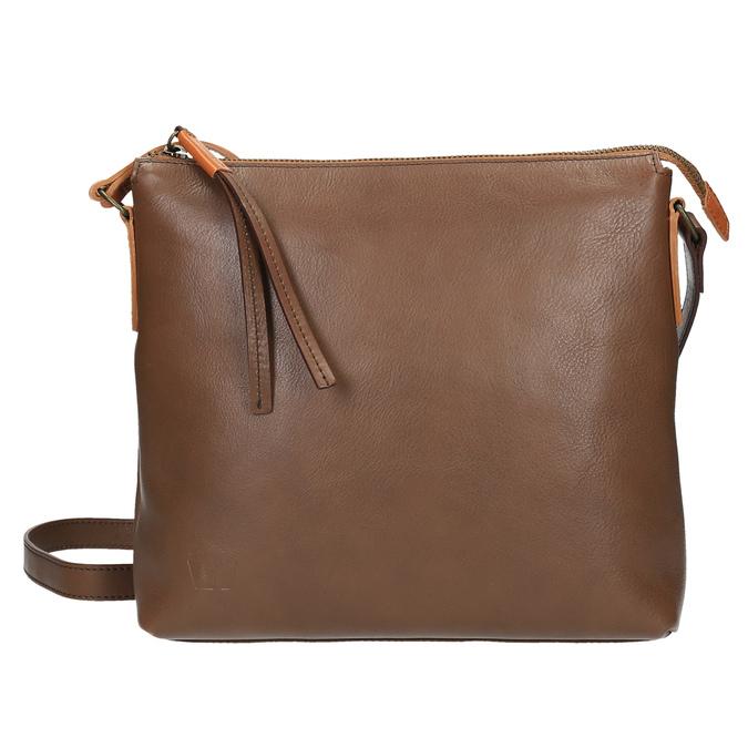 Kožená Crossbody kabelka weinbrenner, hnedá, 964-4193 - 26