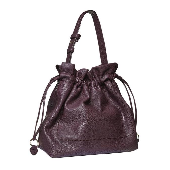Dámska kabelka v Bucket Bag štýle bata, fialová, 961-5369 - 13