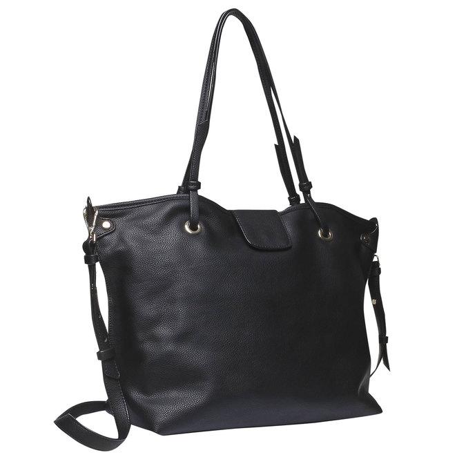 Dámska kabelka v Tote štýle bata, čierna, 961-6365 - 13