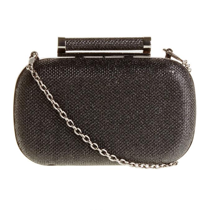 Listová kabelka v štýle Miniaudière bata, čierna, 969-6351 - 26