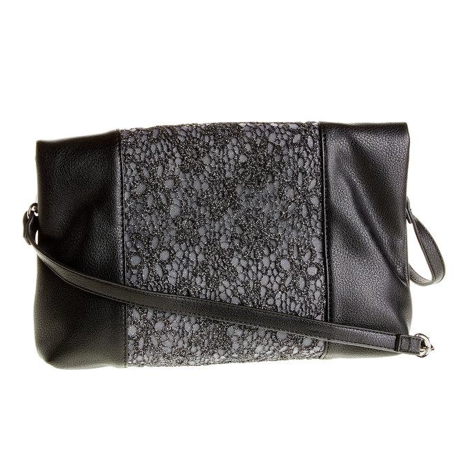 Crossbody kabelka so strapcom bata, čierna, 969-6282 - 26