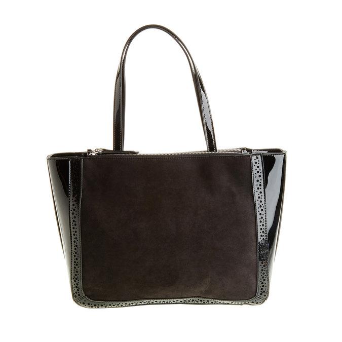 Dámska kabelka s lesklými prvkami bata, čierna, 969-6315 - 26