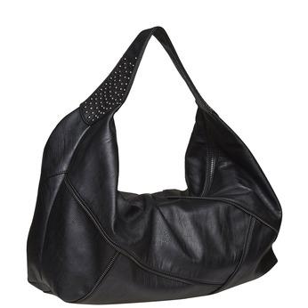 Dámská kabelka s kovovými detailami bata, čierna, 961-6231 - 13