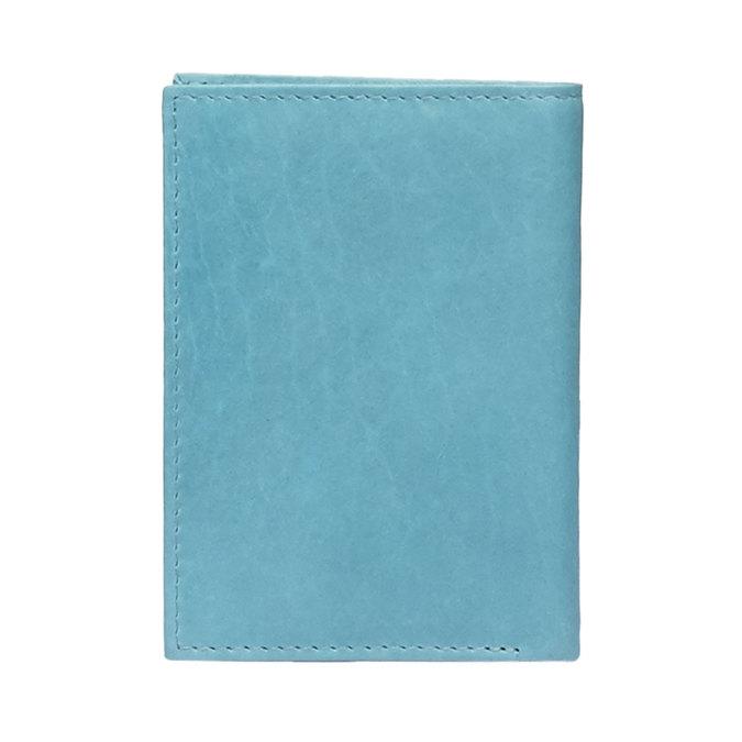 Kožené púzdro na karty bata, modrá, 944-9158 - 26