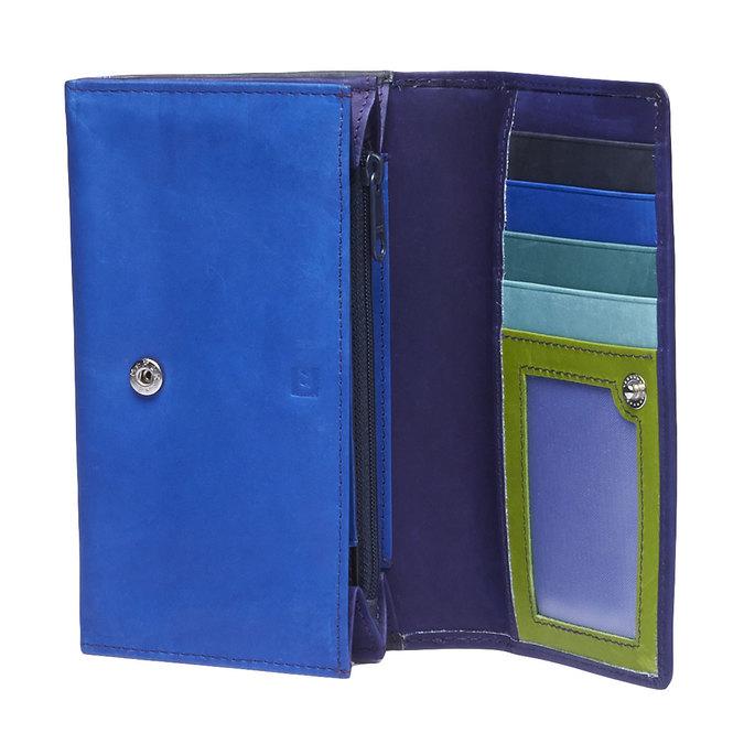Dámska kožená peňaženka bata, modrá, 944-9156 - 15