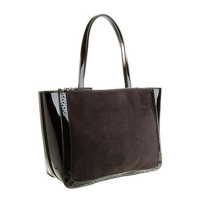 Dámska kabelka s lesklými prvkami bata, čierna, 969-6315 - 13
