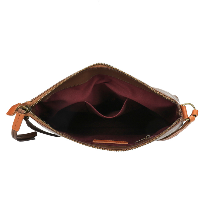 Kožená Crossbody kabelka weinbrenner, hnedá, 964-4193 - 15