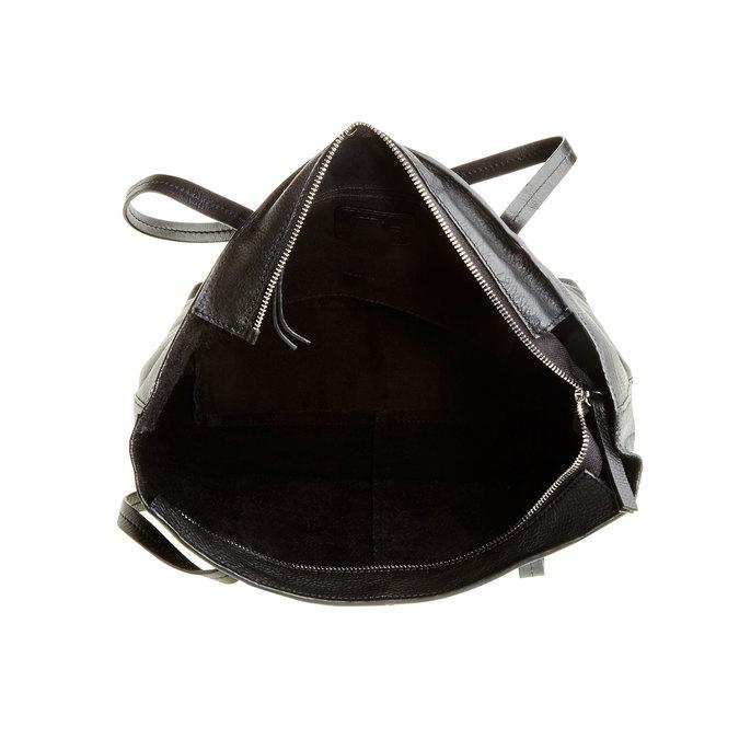Dámska kožená kabelka bata, čierna, 964-6177 - 15