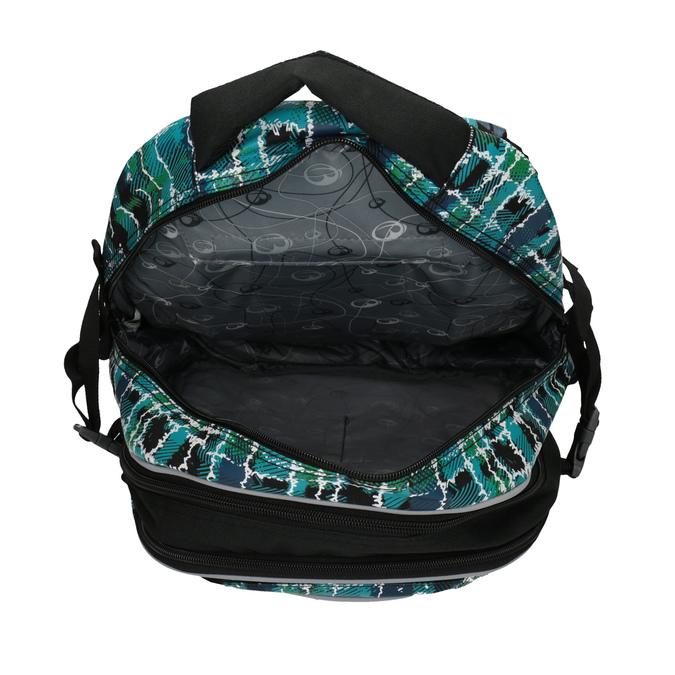 Detský školský batoh bagmaster, zelená, modrá, 969-9602 - 17