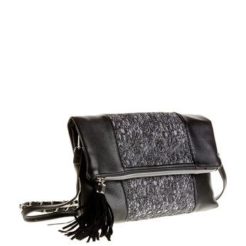 Crossbody kabelka so strapcom bata, čierna, 969-6282 - 13
