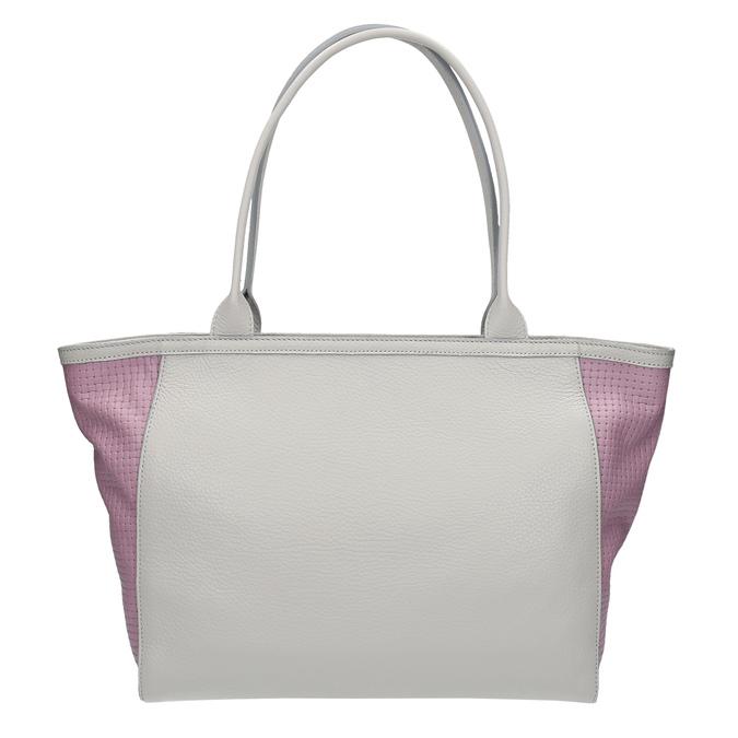 Kožená shopper kabelka bata, šedá, 964-2191 - 19