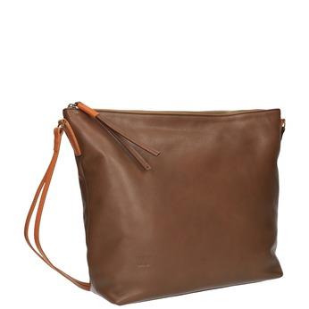 Kožená Crossbody kabelka weinbrenner, hnedá, 964-4201 - 13