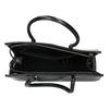 Čierna kabelka s pevným dnom bata, čierna, 961-6879 - 15