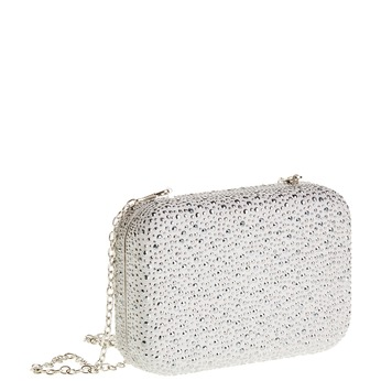 Listová kabelka v štýle Miniaudière bata, šedá, 969-2350 - 13