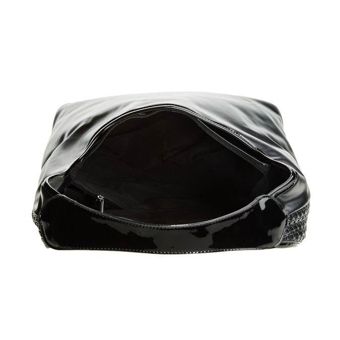 HOBO KABELKA V PLETENOM DESIGNE bata, čierna, 961-6786 - 15