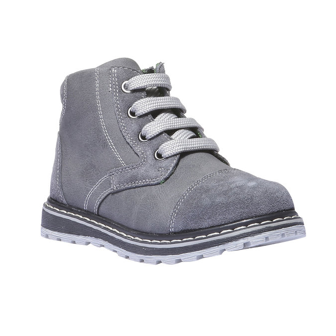 Kožené členkové topánky mini-b, šedá, 211-2138 - 13
