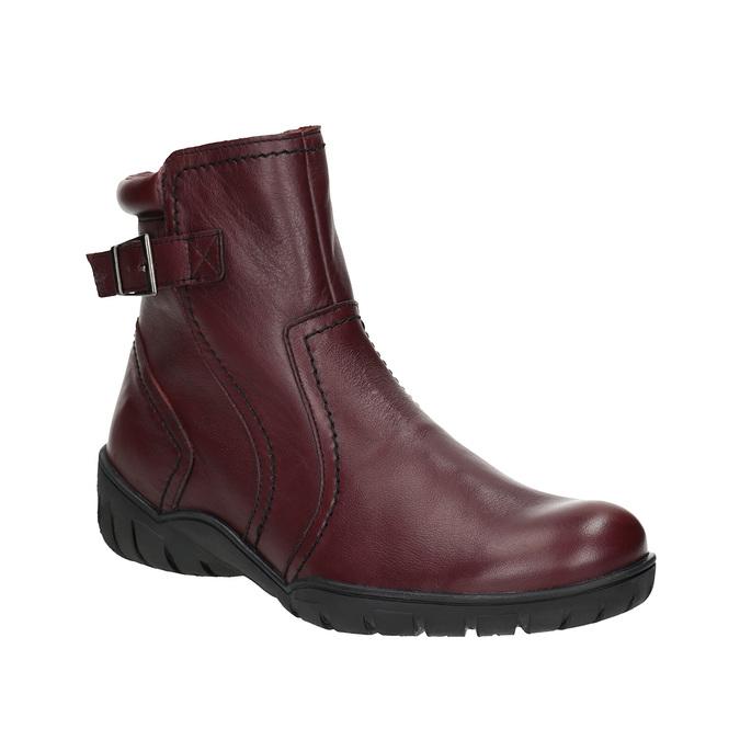 Dámska kožená zimná obuv bata, červená, 596-5347 - 13