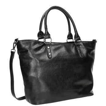 Čierna dámska kabelka bata, čierna, 961-6857 - 13
