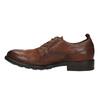 Pánske kožené poltopánky v ležérnom dizajne bata, hnedá, 826-4732 - 26