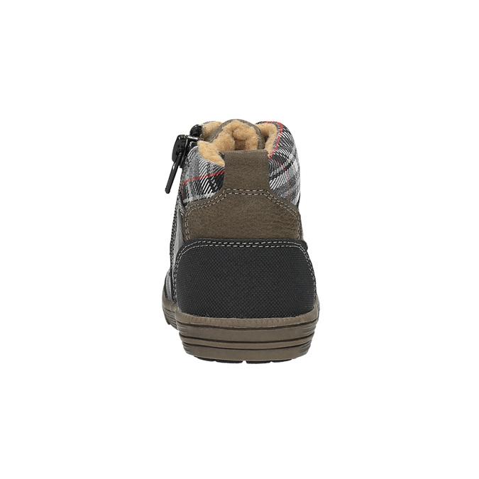 Detská členková obuv bubblegummer, hnedá, 191-6613 - 17