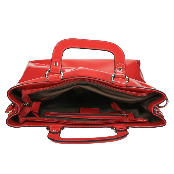 Červená dámska kabelka do ruky bata, červená, 961-5606 - 15