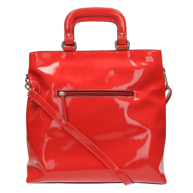 Červená dámska kabelka do ruky bata, červená, 961-5606 - 26