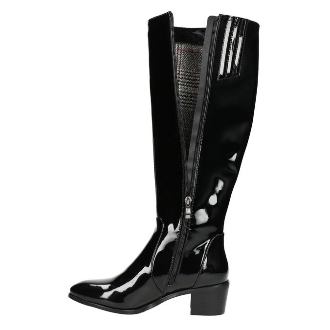 Dámské čižmy bata, čierna, 691-6631 - 26