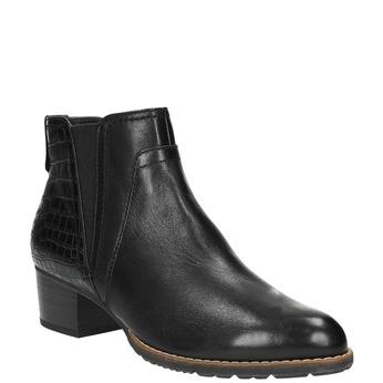 Dámska členková obuv šírky H bata, čierna, 696-6616 - 13