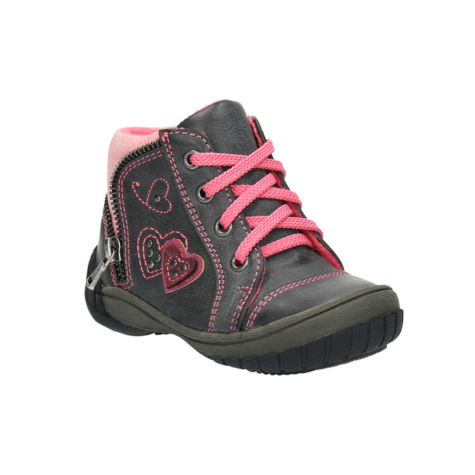 Detská členková obuv bubblegummer, šedá, 121-2611 - 13