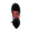 Dievčenská členková obuv s ružovým šnurovaním mini-b, čierna, 321-6600 - 19