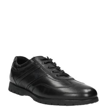Ležérne kožené poltopánky čierne bata, čierna, 826-6652 - 13