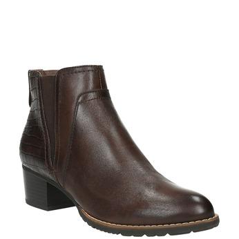 Dámska členková obuv šírky H bata, hnedá, 696-4616 - 13