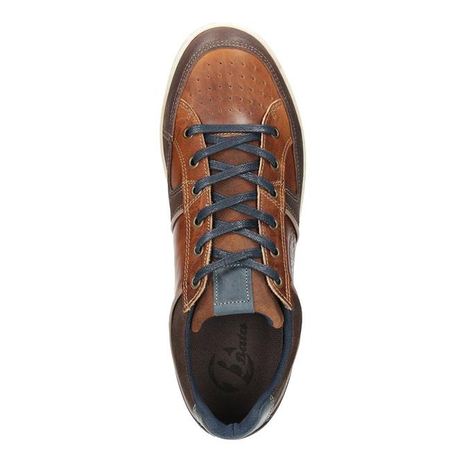 Ležérne kožené tenisky bata, hnedá, 844-4622 - 19