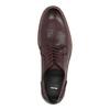 Vínové kožené poltopánky bata, červená, 826-5645 - 19