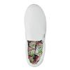 Biele Slip-on na širokej podrážke bata, biela, 529-1631 - 19