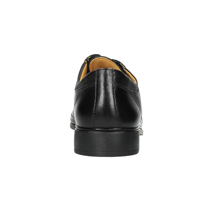 Pánske kožené poltopánky comfit, čierna, 824-6714 - 17