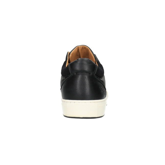 Pánske tenisky na širokej podrážke bata, čierna, 841-6605 - 17