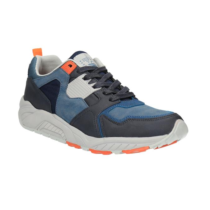 Pánske tenisky na výraznej podrážke bata, modrá, 841-9601 - 13