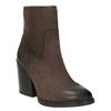 Kožená členková obuv na masívnom podpätku bata, hnedá, 696-4612 - 13