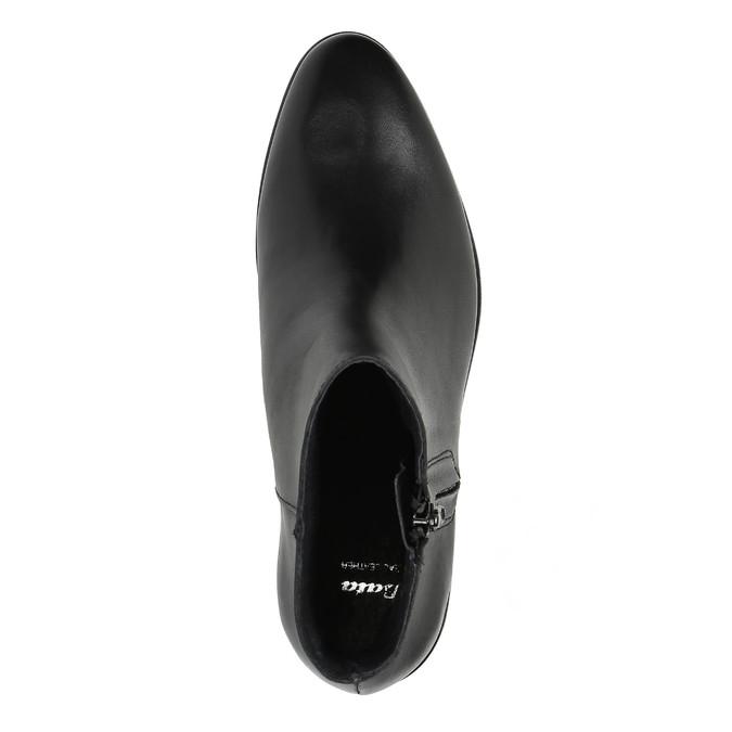 Kožená členková obuv so zipsom čierna bata, čierna, 594-6518 - 19