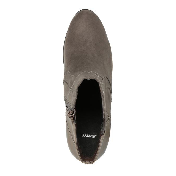 Členková obuv na podpätku bata, šedá, 791-2602 - 19