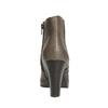 Členková obuv na podpätku bata, šedá, 791-2602 - 17