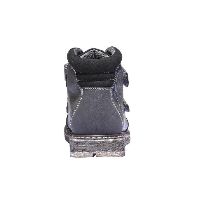 Detská členková obuv na suchý zips mini-b, šedá, 311-2101 - 17