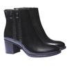 Kožená členková obuv bata, čierna, 794-6566 - 26